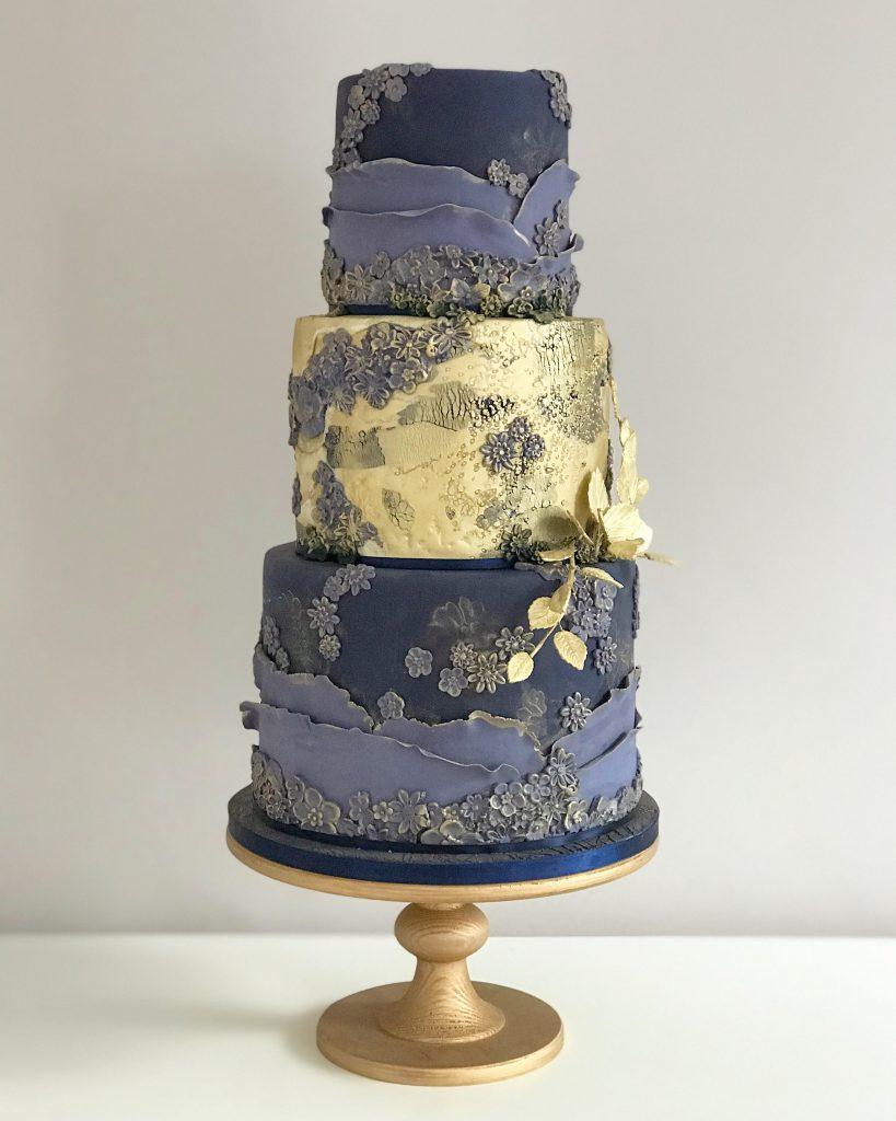 Navy Wedding Cake